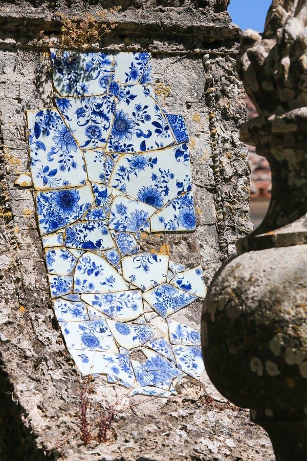 Azulejo в Quinta в Португалии стоковое изображение rf