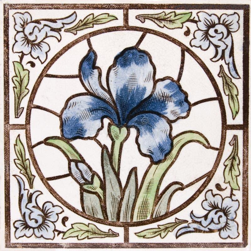 Azulejo antiguo de Nouveau del arte imágenes de archivo libres de regalías