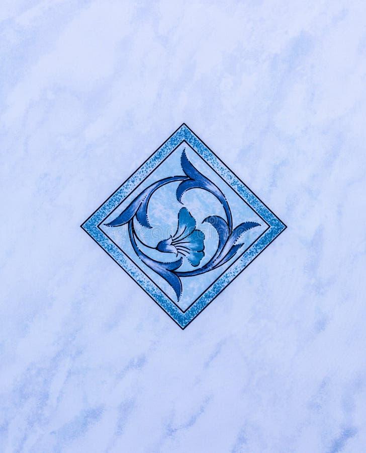 Download Azulejo azul stock de ilustración. Ilustración de decoración - 42438793