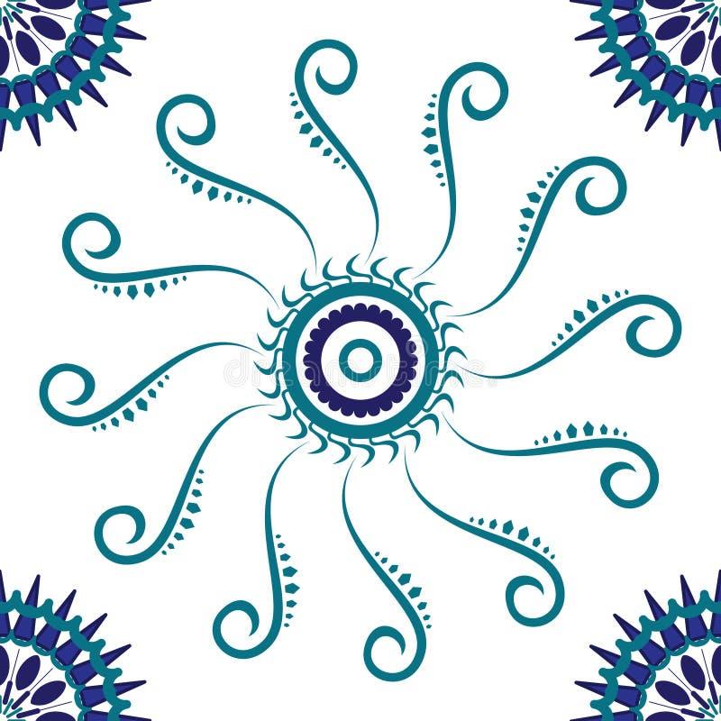 Azulejo azul stock de ilustración