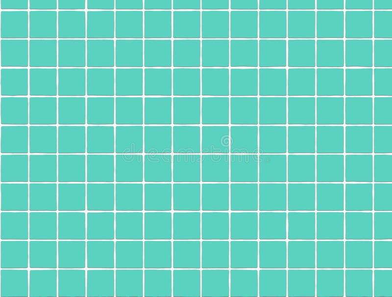Azulejo azul del baño stock de ilustración