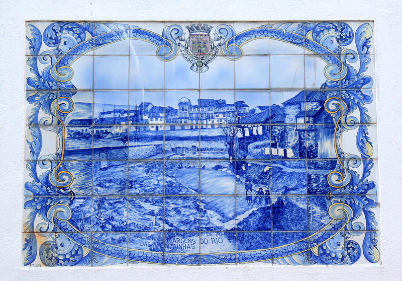 azulejo braganca葡萄牙城镇 免版税库存照片
