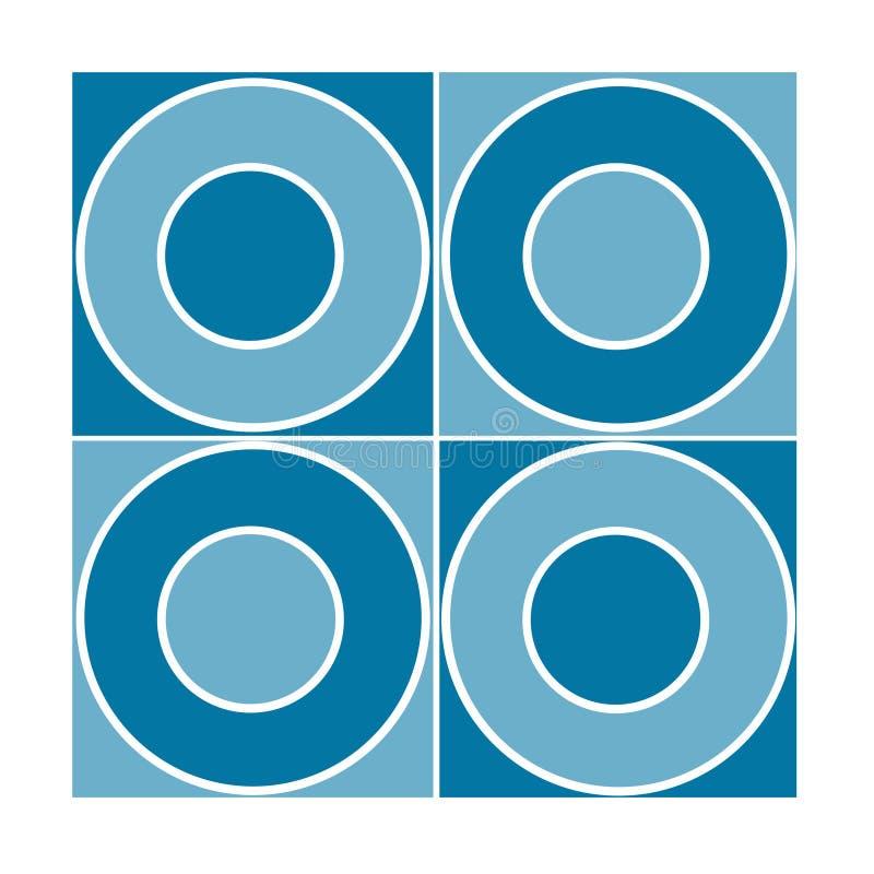 Azulejo inconsútil con los círculos azules libre illustration