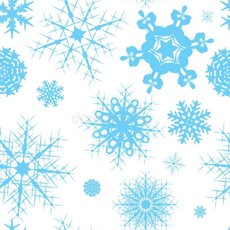 Azulejo inconsútil del copo de nieve stock de ilustración