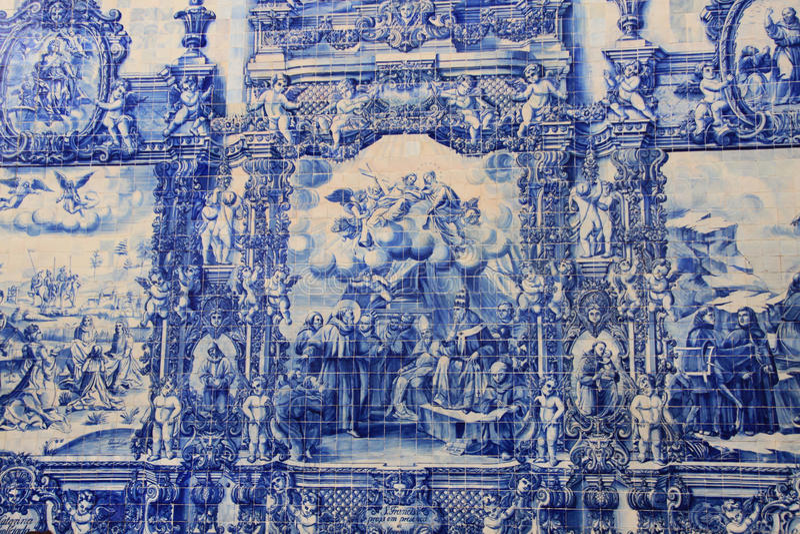 Azulejo (keramisk tegelplatta) royaltyfri fotografi