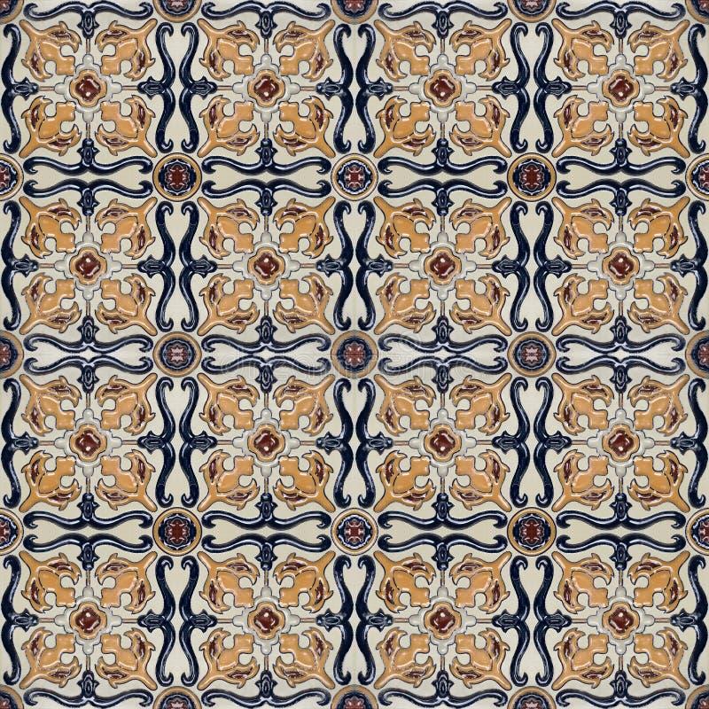 Azulejo marroquino do vintage do estilo de Spanich fotografia de stock