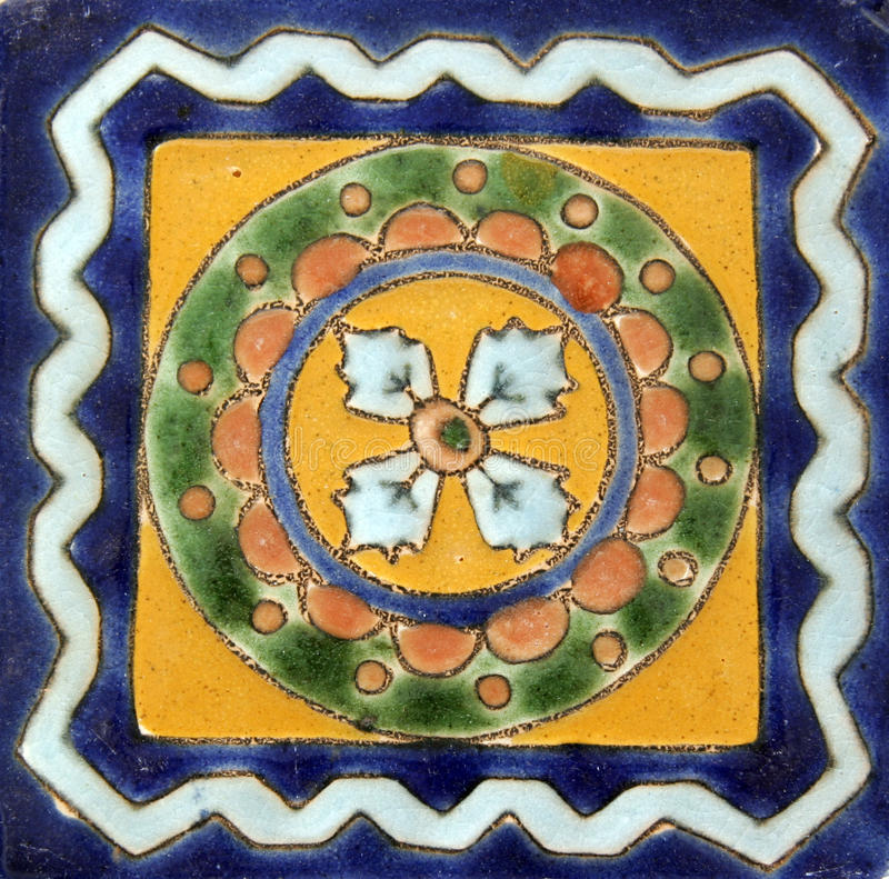 Azulejo mexicano cuadrado fotos de archivo libres de regalías