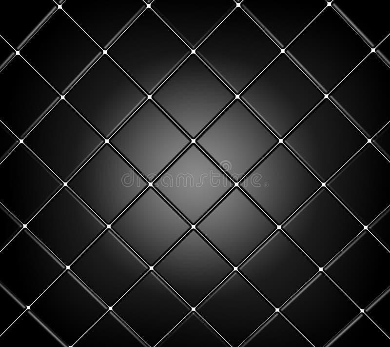 Azulejo negro stock de ilustración