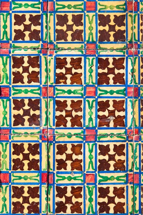 Azulejo - Old Ceramic Tile Background. From building facade in Braga, Portugal stock image