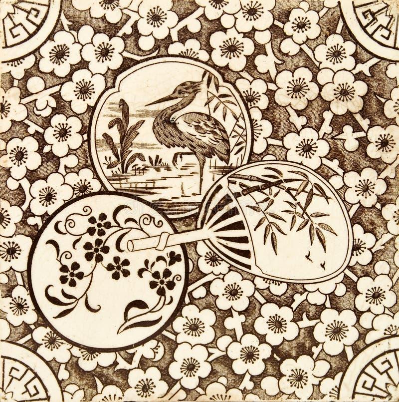 Azulejo oriental del estilo fotografía de archivo libre de regalías