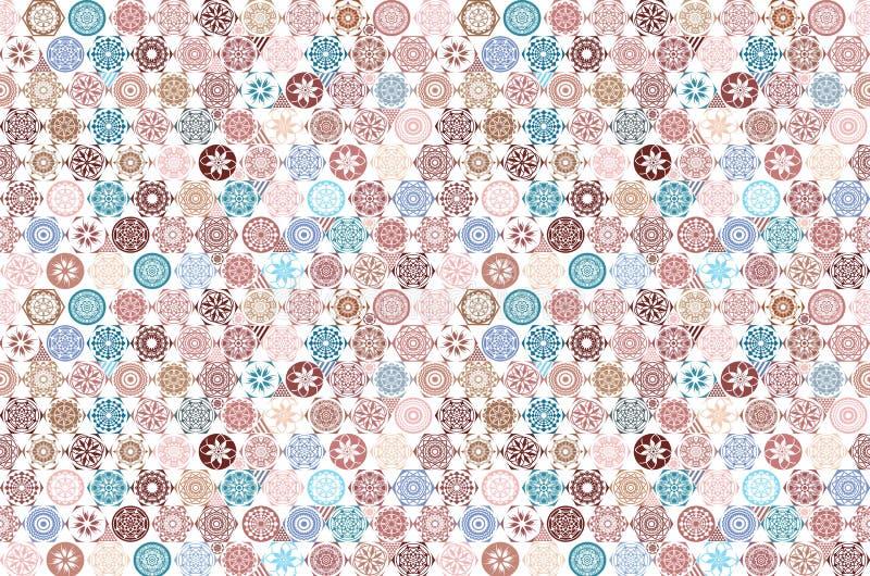 Azulejo sem emenda com retalhos coloridos Teste padrão multicolorido do vintage no estilo turco O teste padrão infinito pode ser  ilustração do vetor