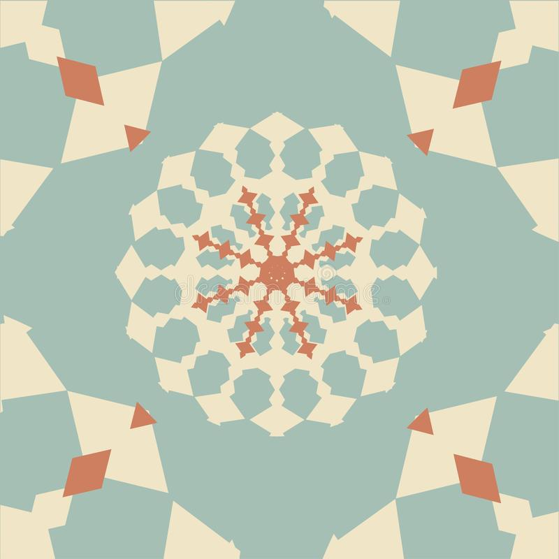 Azulejo sem emenda com retalhos coloridos Teste padr?o multicolorido do vintage Pode ser usado para o azulejo, papel de parede, l ilustração stock