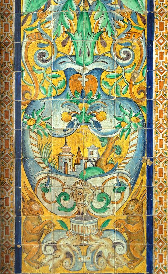 Azulejo - Sevilha fotografia de stock royalty free