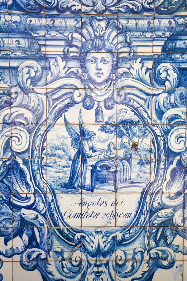 Azulejo - skyddsängel arkivbild