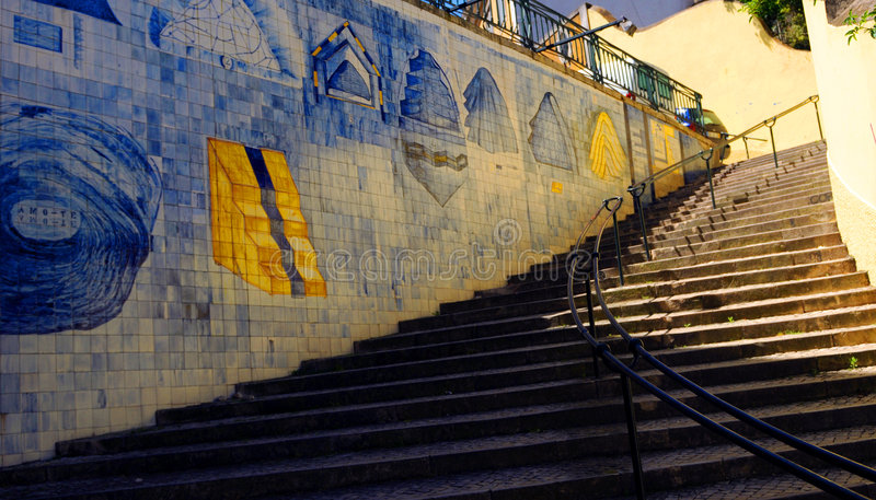 Download Azulejo Stairs stock image. Image of colours, decorative - 9361891