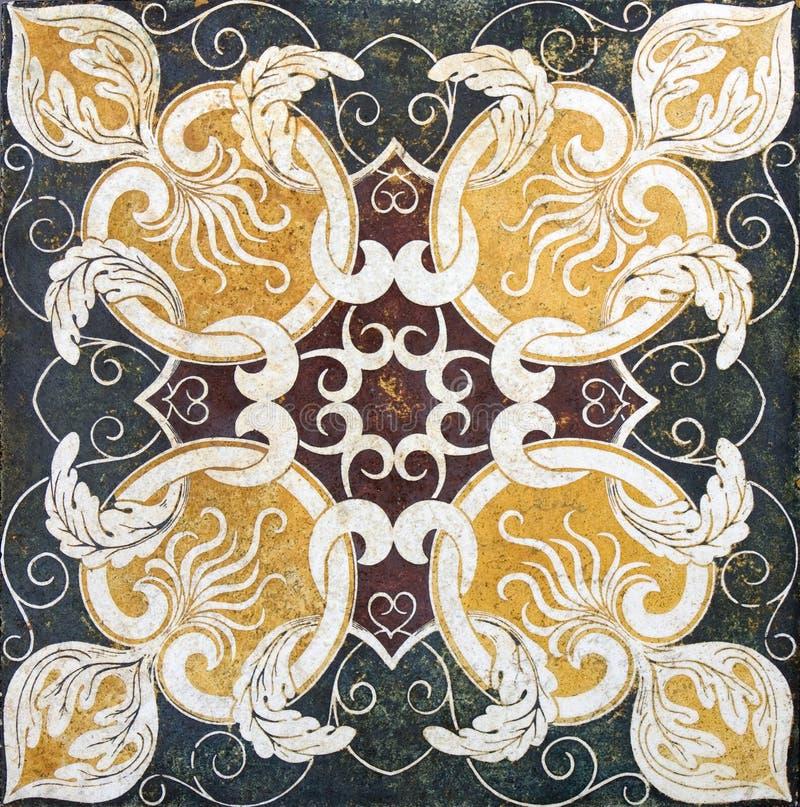 Azulejo - textura clásica del mármol del travertino imagenes de archivo