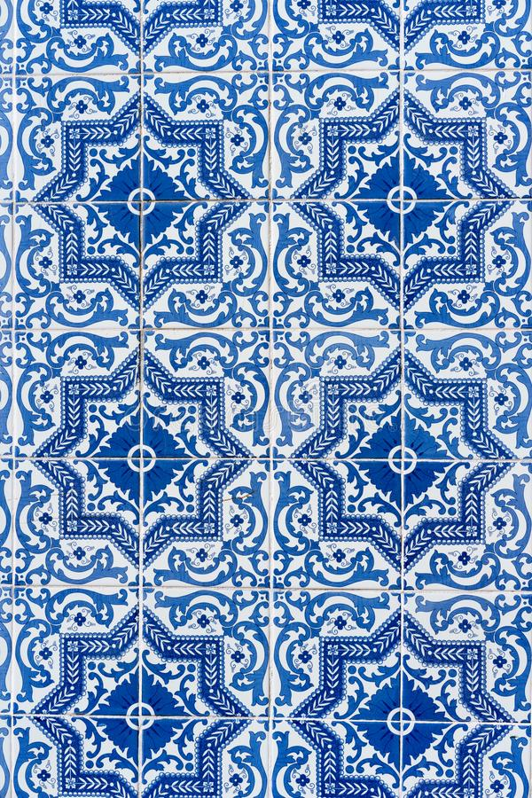 Azulejo, tradycyjny biały ornament domy w Lisbon, Portugalia obrazy stock