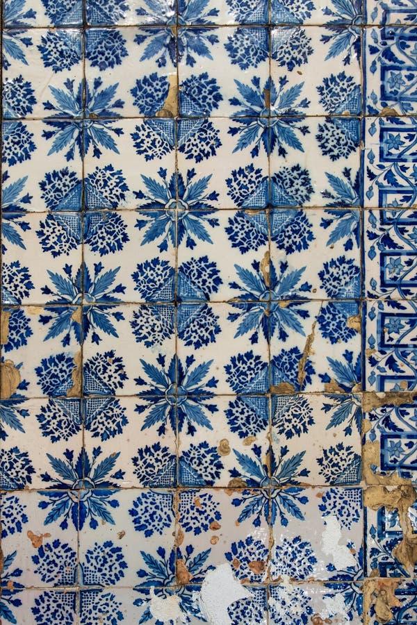 Azulejo - vieux fond de tuile photographie stock libre de droits