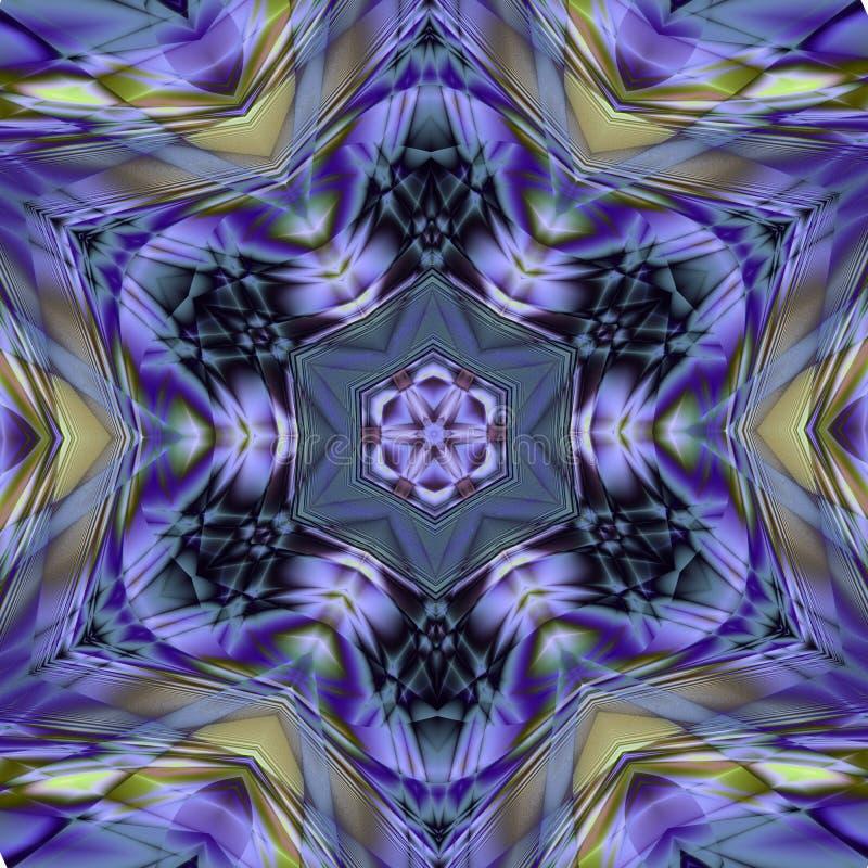 Azulejo (Zellige)色彩强烈马赛克蔓藤花纹 几何样式给上釉的瓦片 高分辨率详细的图表样式illustratio 向量例证
