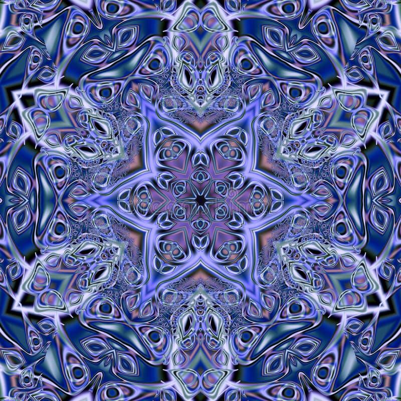 Azulejo (Zellige) majolica mosaic arabesque. Geometric patterns glazed tiles. High resolution detailed graphic pattern illustratio royalty free illustration