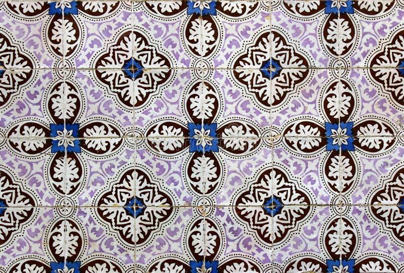 Azulejos,葡萄牙瓦片 免版税图库摄影