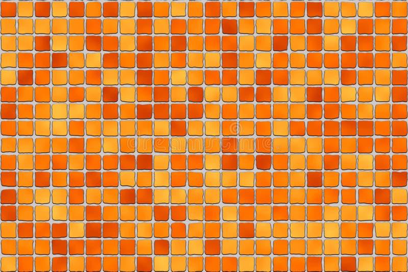 Azulejos anaranjados - mosaico imagenes de archivo