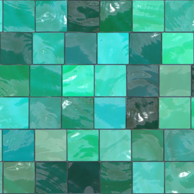 Azulejos azulverdes stock de ilustración