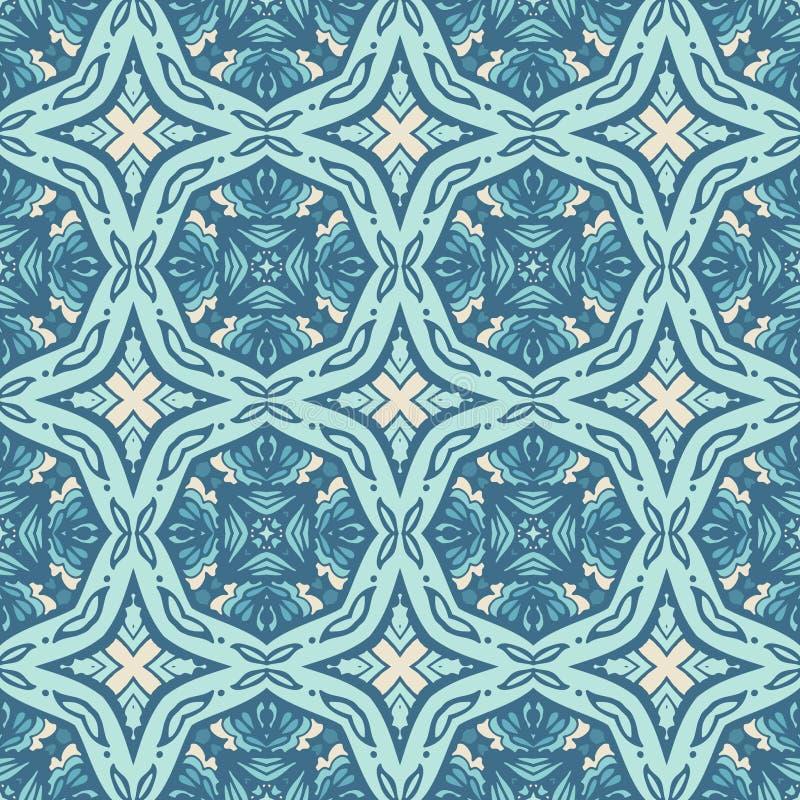 Azulejos background Para el papel pintado, los fondos, decoración para su diseño, terraplén de cerámica, de la página y más stock de ilustración