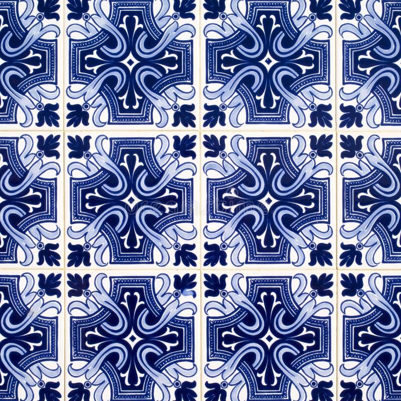 Azulejos belagd med tegel bakgrund royaltyfria bilder