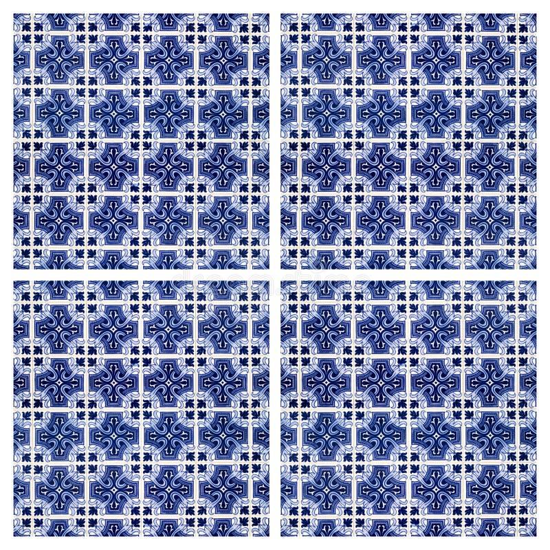 Azulejos belagd med tegel bakgrund royaltyfri bild