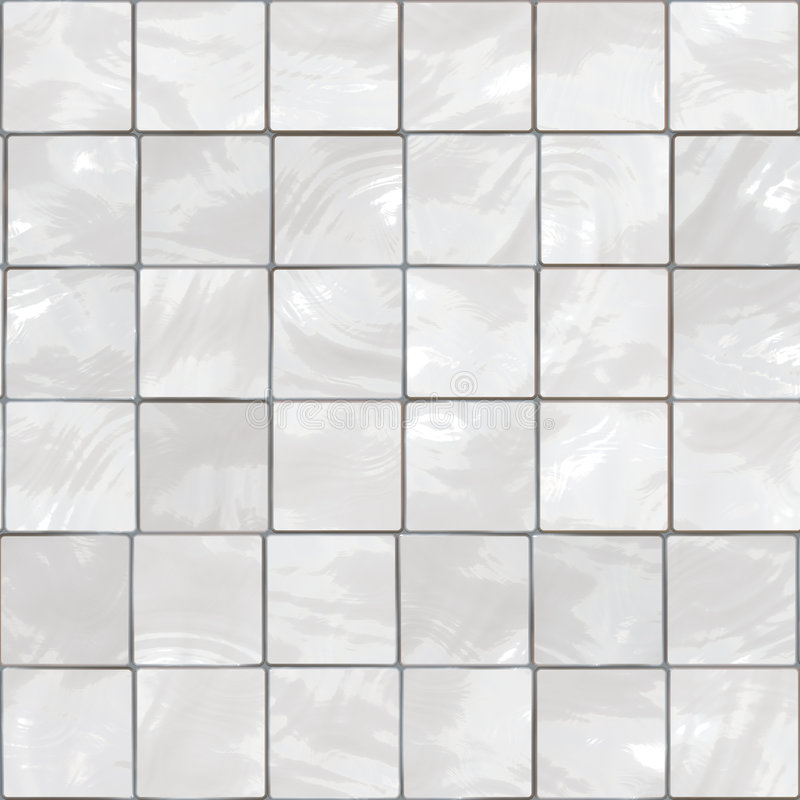 Azulejos blancos stock de ilustración