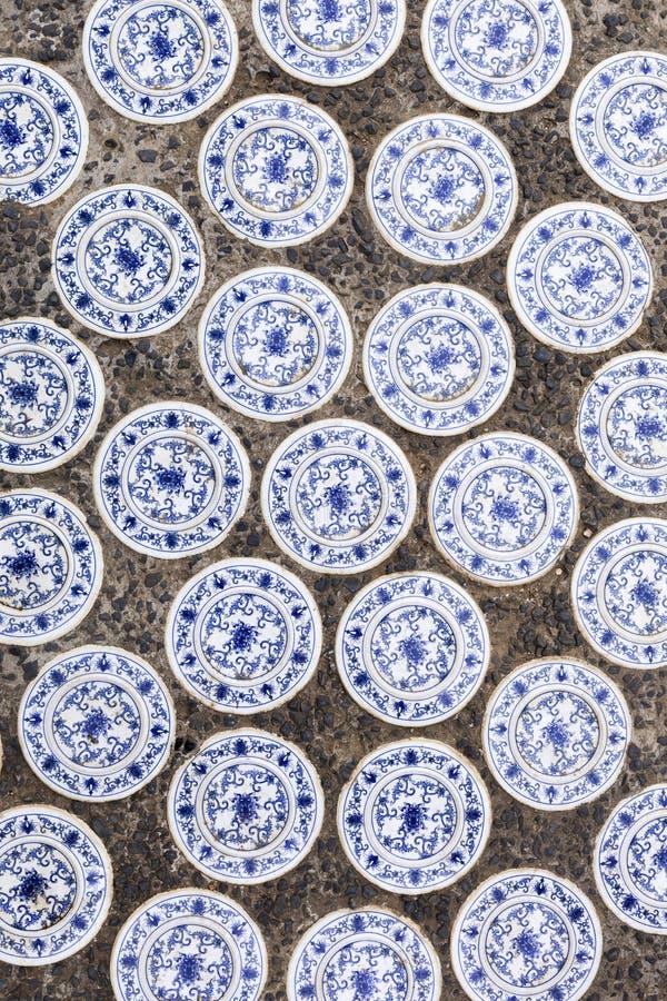 Azulejos chineses foto de stock