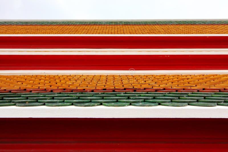 Azulejos de azotea coloreados foto de archivo libre de regalías