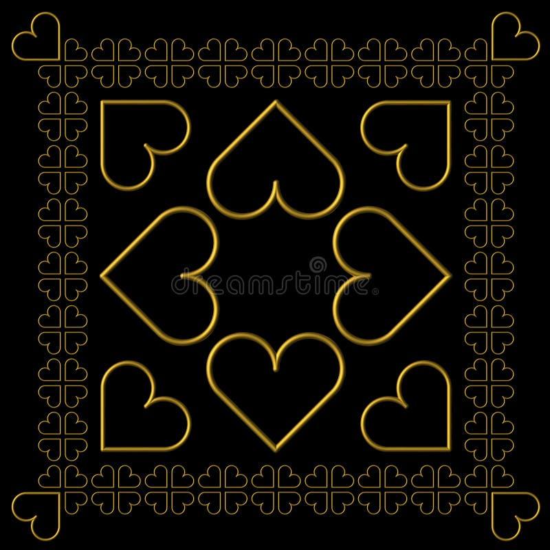 Azulejos de las tarjetas del día de San Valentín ilustración del vector