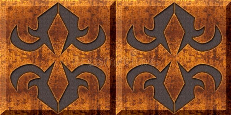 Azulejos de madera Fondo casero abstracto del dise?o del modelo de las tejas de la pared de la pintura de aceite del arte decorat libre illustration