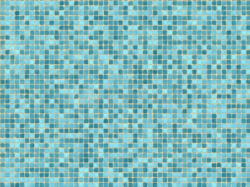 Azulejos de mosaico azules ilustración del vector