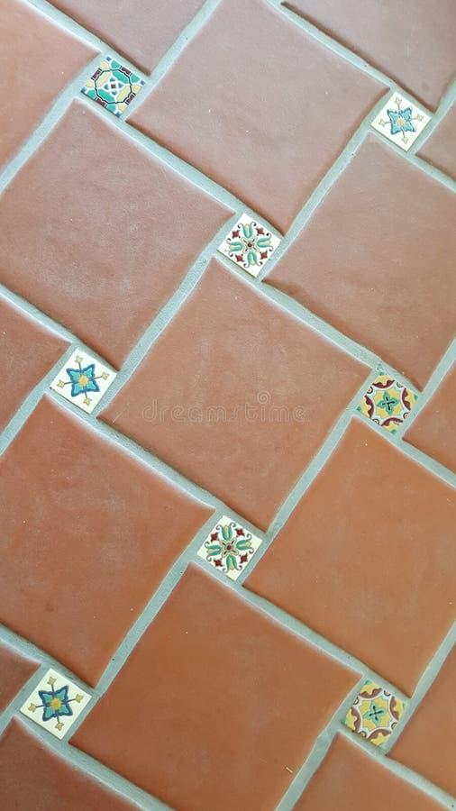 Azulejos de suelo de cerámica foto de archivo libre de regalías