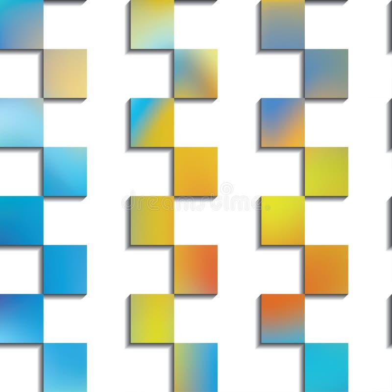 Azulejos decorativos Modelo de zigzag Decoración de la pared interior Modelo inconsútil ilustración del vector