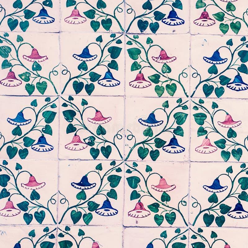Azulejos decorativos portugueses adornados tradicionales/Abstra de las tejas imágenes de archivo libres de regalías