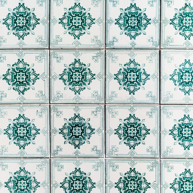 Azulejos decorativos portugueses adornados tradicionales de las tejas vendimia fotos de archivo libres de regalías