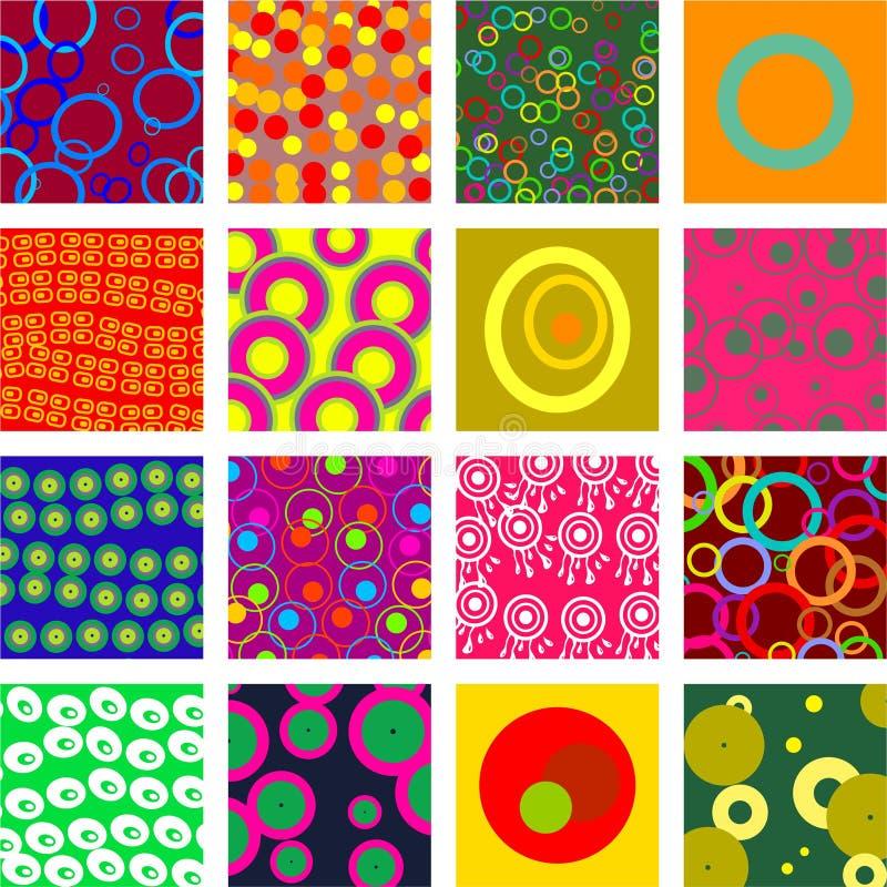Azulejos del círculo ilustración del vector