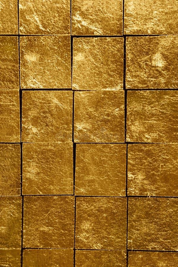 Azulejos del oro fotografía de archivo