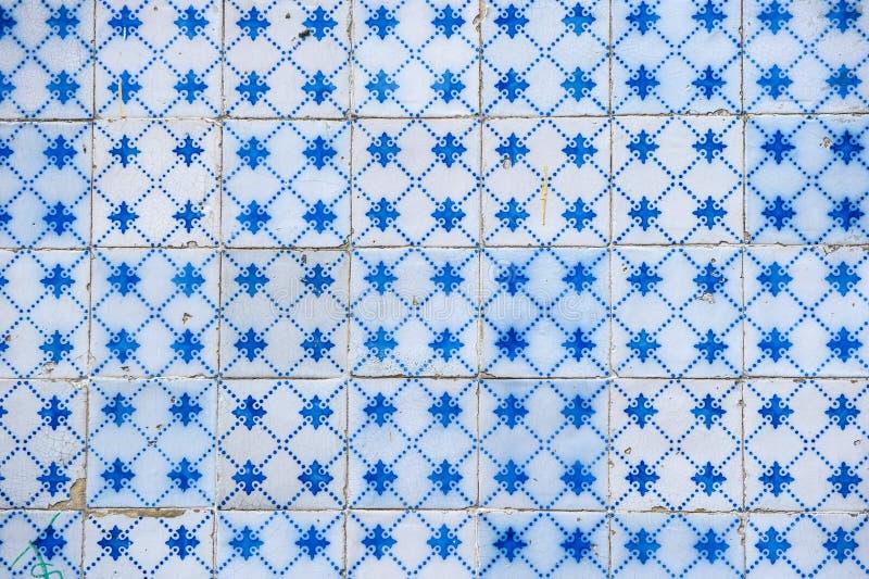 Azulejos del vintage, tejas portuguesas tradicionales stock de ilustración