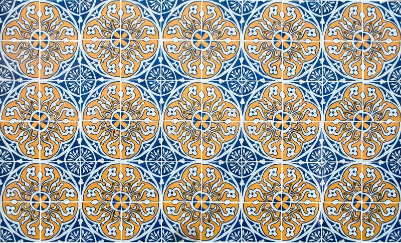 Azulejos do vintage, telhas portuguesas tradicionais imagem de stock