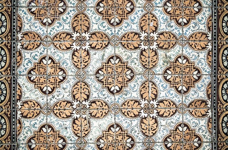 Azulejos do vintage, telhas portuguesas tradicionais fotografia de stock royalty free