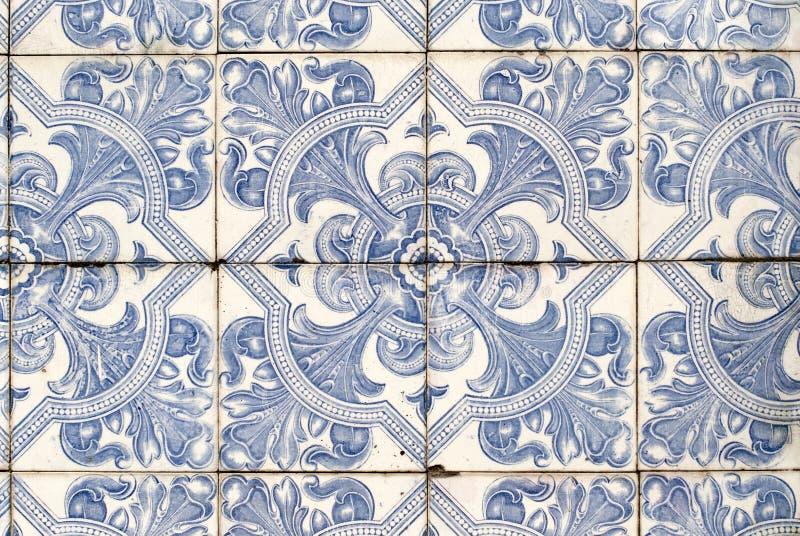 Azulejos esmaltados portugueses 040 imagen de archivo