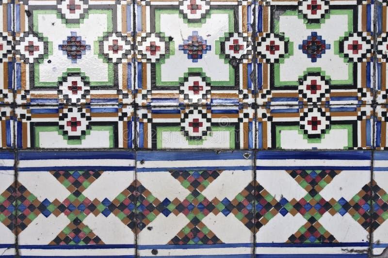 Azulejos esmaltados portugueses foto de archivo