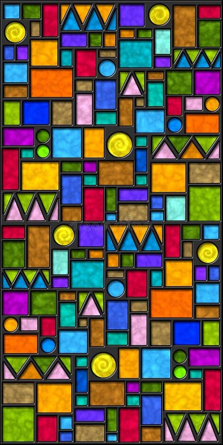 Azulejos geométricos coloridos ilustración del vector