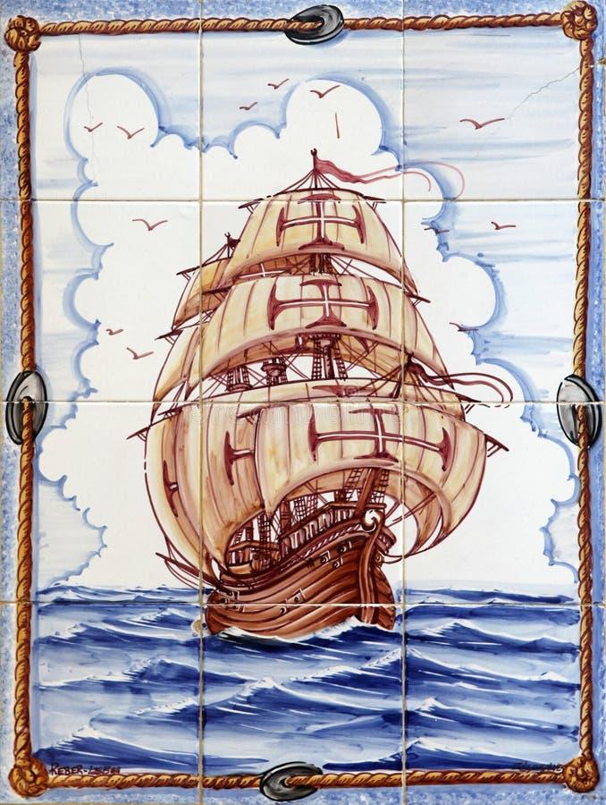 azulejos lisbon arkivfoto