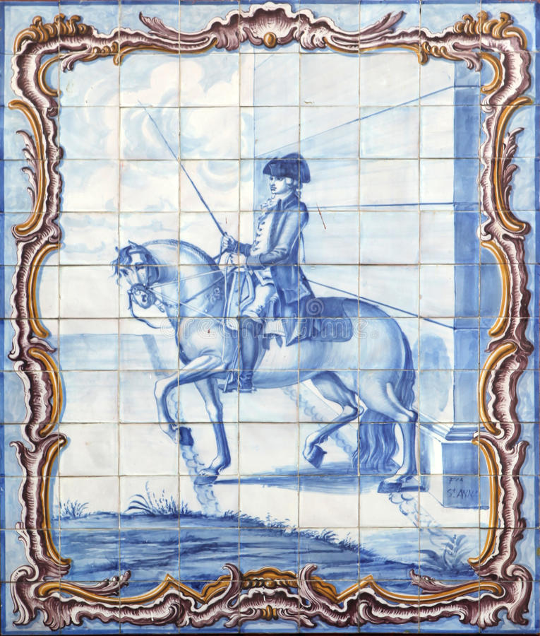 azulejos lisbon royaltyfria bilder